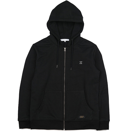 HEAVY HOOD ZIPUP (BLACK)