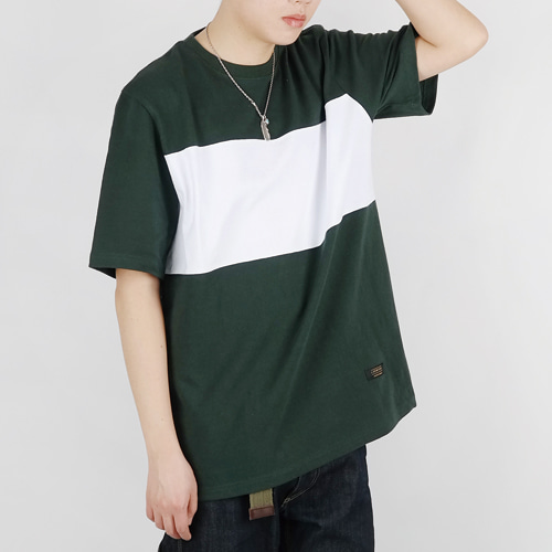 FRAME TEE (GREEN/WHITE)