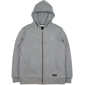 HEAVY HOOD ZIPUP (CHARCOAL GREY)