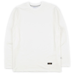 Simple L/S tee (WHITE IVORY)