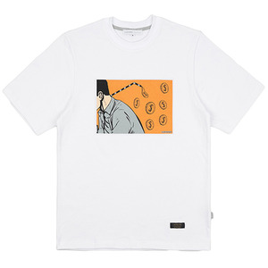 MONEY STRAW TEE (WHITE)
