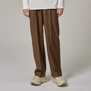 WIDE SLACKS (BROWN)