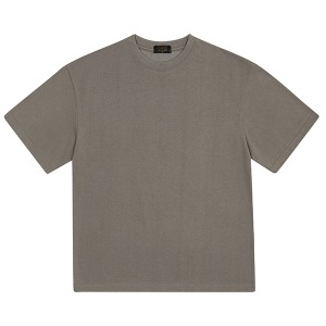 BASIC HALF TEE (GREY BROWN)